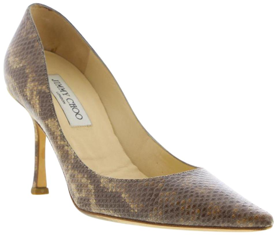 Jimmy Snake Choo Brown Snake Jimmy Embossed Leather - Pumps 495e67