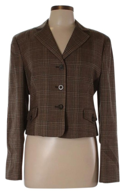 Preload https://img-static.tradesy.com/item/21767191/bcbgmaxazria-brown-woolvelvet-trim-plaid-blazer-size-12-l-0-2-650-650.jpg