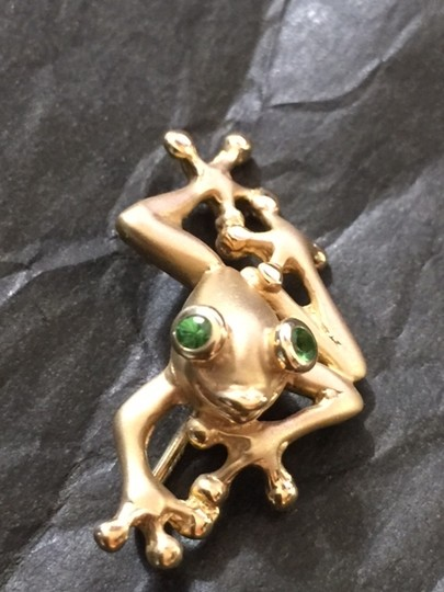 Other Frog Pendant Peridot 14K Heavy Solid Gold