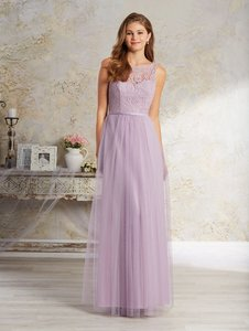 Alfred Angelo Lilac Lace 8642 Feminine Bridesmaid Mob Dress Size 16 Xl Plus