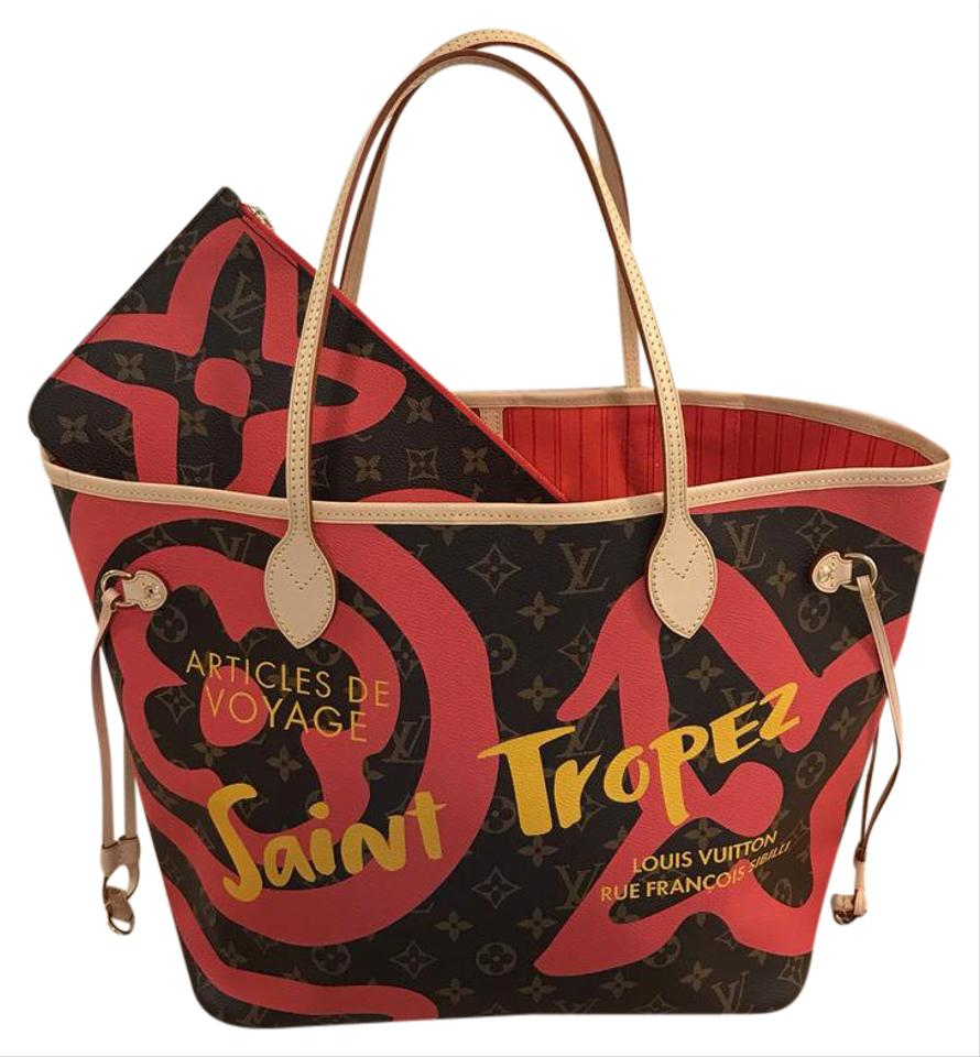 Louis Vuitton Neverfull Saint Tropez Limited Edition Tahitienne St Tote In Monogram
