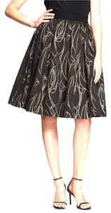 MILLY Skirt Black Metallic