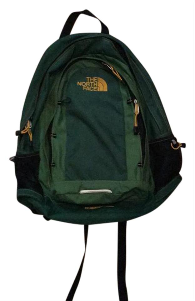 f66e8e5fac39 The North Face 61661 Green/Yellow/Black Polyester with Polyurethane Coating  Nylon Liner with Polyurethane Coating Backpack 55% off retail