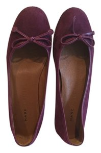 Marc Jacobs All Leather Whipstitching Deep purple suede Flats