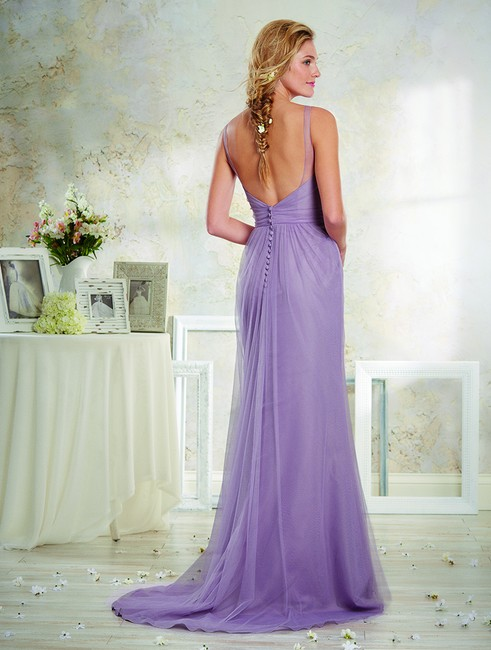 Item - Mauve Purple Soft Net 8631 Feminine Bridesmaid/Mob Dress Size 8 (M)