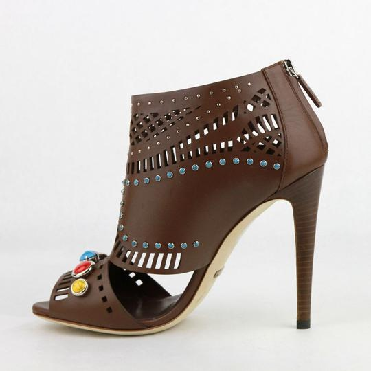 Gucci Opened Toed Brown Boots Image 7