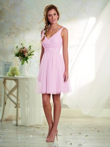 Alfred Angelo Ballerina Pink Soft Net 8629 Feminine Bridesmaid/Mob Dress Size 10 (M)
