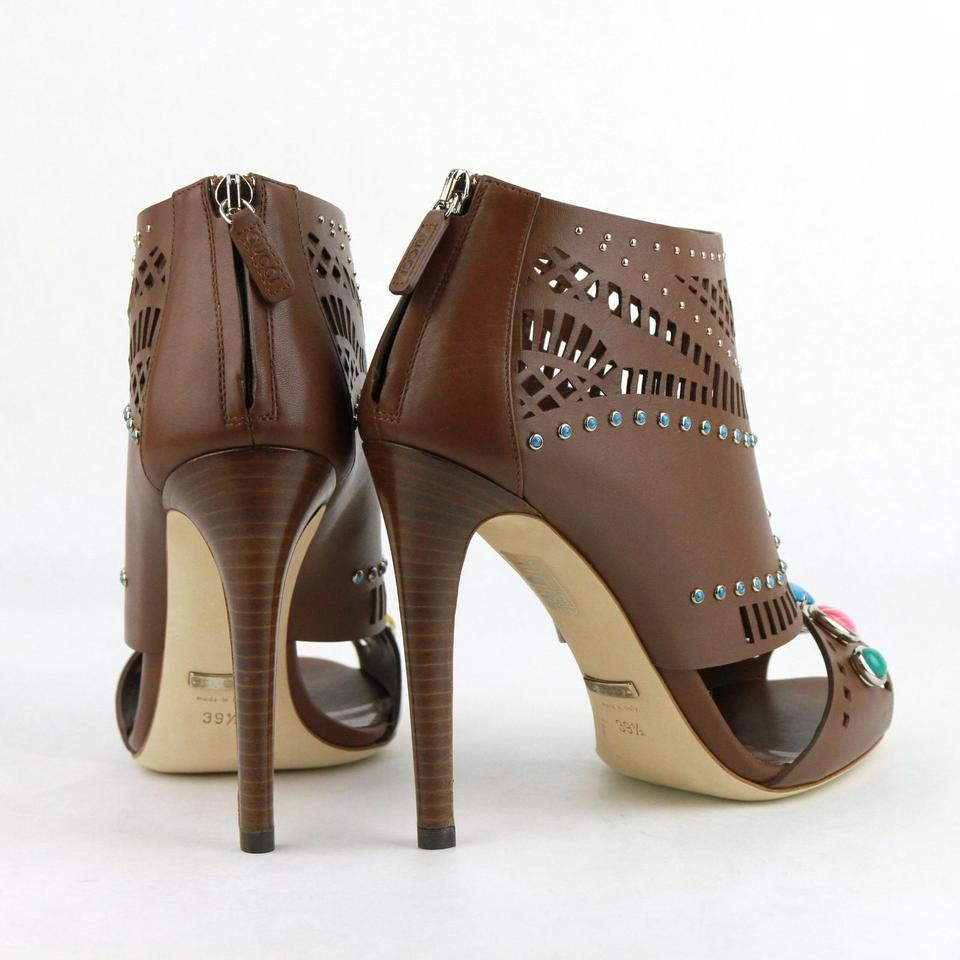 f0b88eb3fa4 Gucci Brown Opened Toed with Gem Detail   9.5 371057 2548 Boots Booties