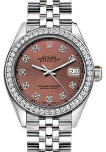 Rolex 36mm Datejust with Diamond Brown Dial and Custom Diamond Bezel