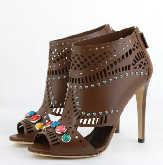 Gucci Opened Toed Brown Boots Image 1