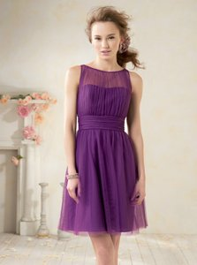 Alfred Angelo Spring Violet Purple Soft Net 8611 Feminine Bridesmaid/Mob Dress Size 8 (M)