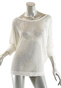 Pashmere Beachwear Linen Knit Coverup 3/4 Sleeves Sweater