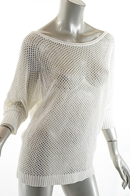 Pashmere Beachwear Linen Knit Coverup 3/4 Sleeves Sweater Image 4