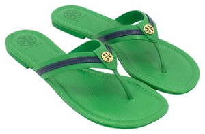Tory Burch 38578 Court Green/Navy Sea Sandals
