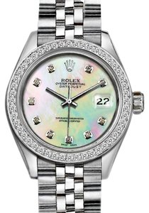Rolex 36mm Datejust with Diamond MOP Dial and Custom Diamond Bezel