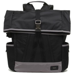 Tumi New Men s Travel Roll Up Laptop Rusksack Black Nylon Backpack ... a8a714f43bed7