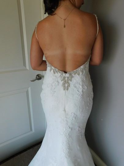 Pronovias Off White Marisela Wedding Dress Size 8 (M) Image 4