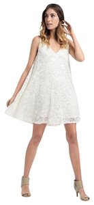 Ella Moss short dress Ivory A Line Embroidered on Tradesy