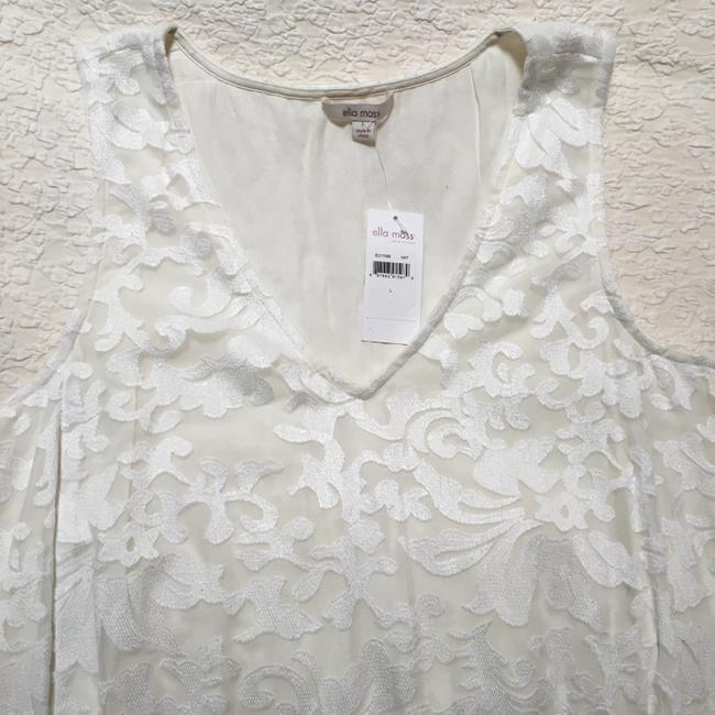 Ella Moss short dress Ivory A Line Embroidered on Tradesy Image 4