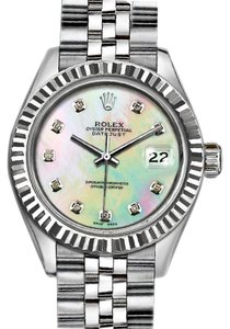 Rolex 36mm Datejust with Diamond Mother of Pearl Dial