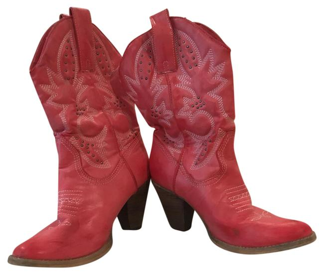 Item - Red Cowboy Boots/Booties Size US 8.5 Regular (M, B)