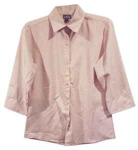 Uniti Casual Brand Shirt Size M Size 8-10 Checkered Button Down Shirt Pink