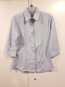 Uniti Casual Brand Shirt Size M Size 8-10 Button Down Shirt Blue