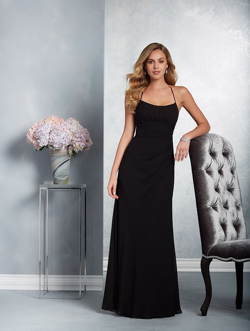 Item - Black Chiffon / Lace 7417 Formal Bridesmaid/Mob Dress Size 8 (M)