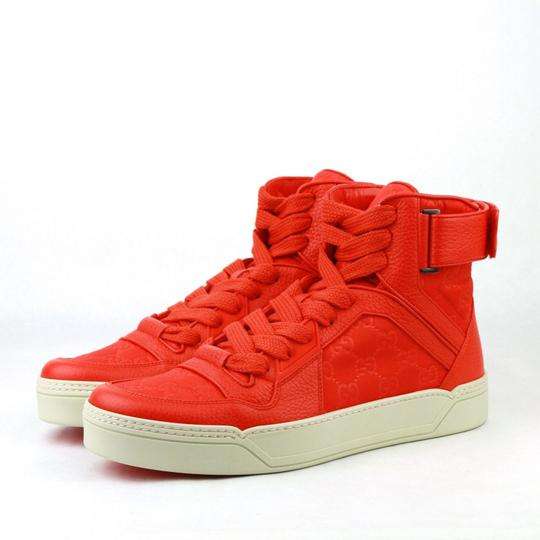 Gucci Red Nylon Fabric High Top Sneakers Ankle Strap 11g / Us 12 409766 6534 Shoes Image 1