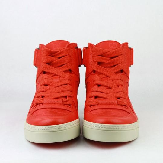 Gucci Red Nylon Fabric High Top Sneakers Ankle Strap 11g / Us 12 409766 6534 Shoes Image 2
