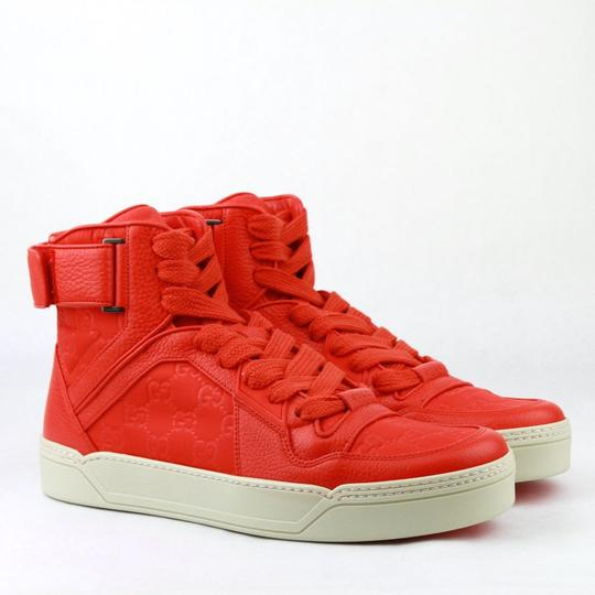 Gucci Red Nylon Fabric High Top Sneakers Ankle Strap 11g / Us 12 409766 6534 Shoes Image 3