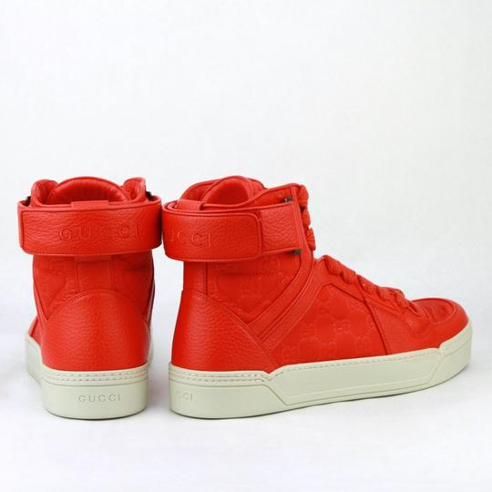 Gucci Red Nylon Fabric High Top Sneakers Ankle Strap 11g / Us 12 409766 6534 Shoes Image 4