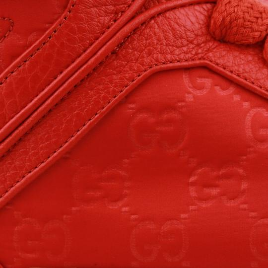 Gucci Red Nylon Fabric High Top Sneakers Ankle Strap 11g / Us 12 409766 6534 Shoes Image 5