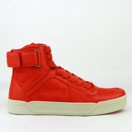 Gucci Red Nylon Fabric High Top Sneakers Ankle Strap 11g / Us 12 409766 6534 Shoes Image 6