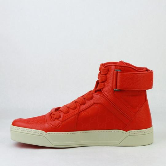 Gucci Red Nylon Fabric High Top Sneakers Ankle Strap 11g / Us 12 409766 6534 Shoes Image 7