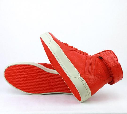Gucci Red Nylon Fabric High Top Sneakers Ankle Strap 11g / Us 12 409766 6534 Shoes Image 8