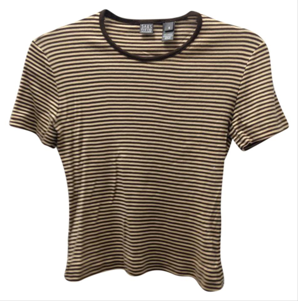 Saks fifth avenue cotton stripes sz s made in italy t for Shirts made in italy