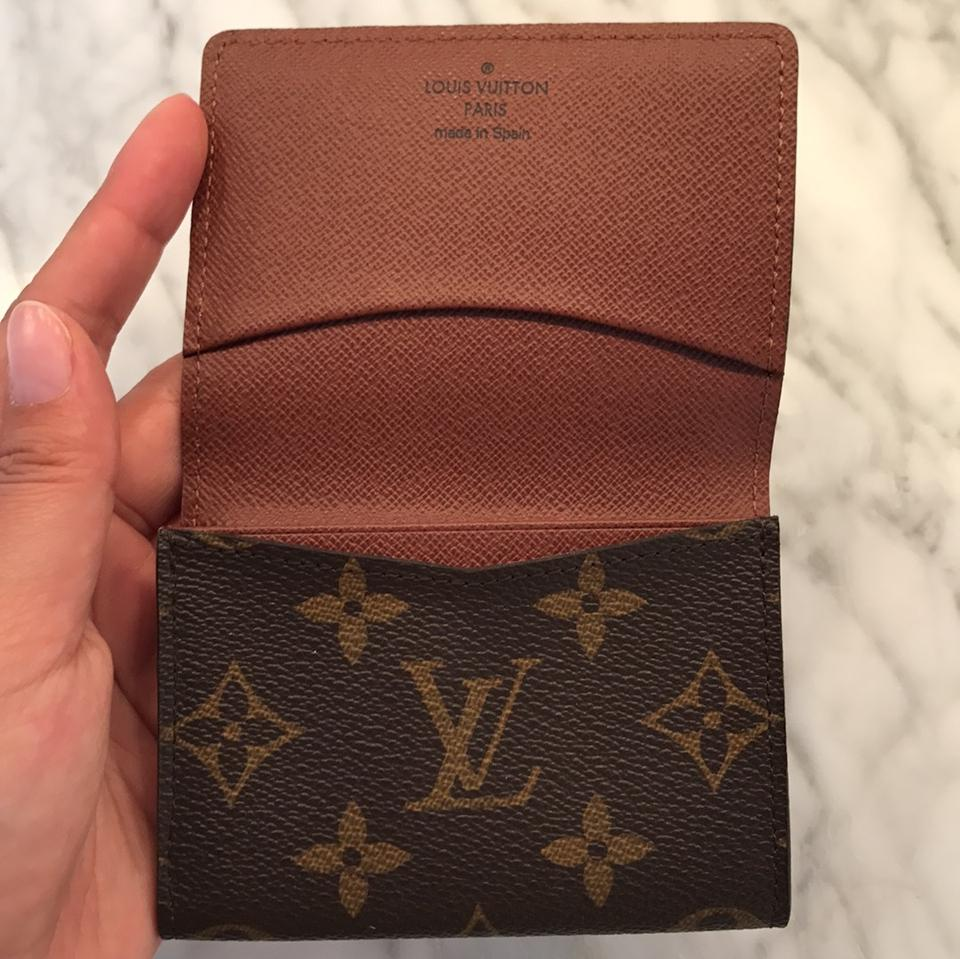 Louis Vuitton Brown Monogram Canvas Business Card Holder M62920 ...