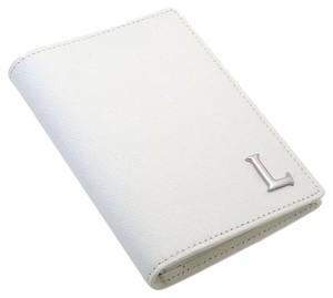 Lancaster Lancaster Made in Italy White Credit Card and Wallet Genuine Leather Leather