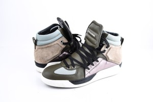 Dolce&Gabbana * Leather Suede High Top Sneakers Multi Color Shoes