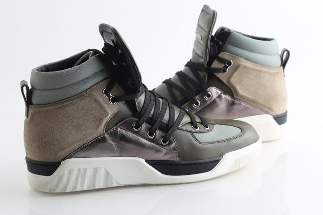 Item - Multicolor Leather Suede High Top Sneakers Shoes