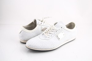 Versace White Leather Sneakers Shoes