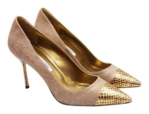 Manolo Blahnik New Bipunta Brown Pumps