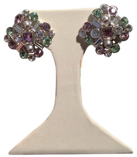 Preload https://img-static.tradesy.com/item/21770178/givenchy-lavender-and-green-clips-crystals-earrings-0-1-540-540.jpg