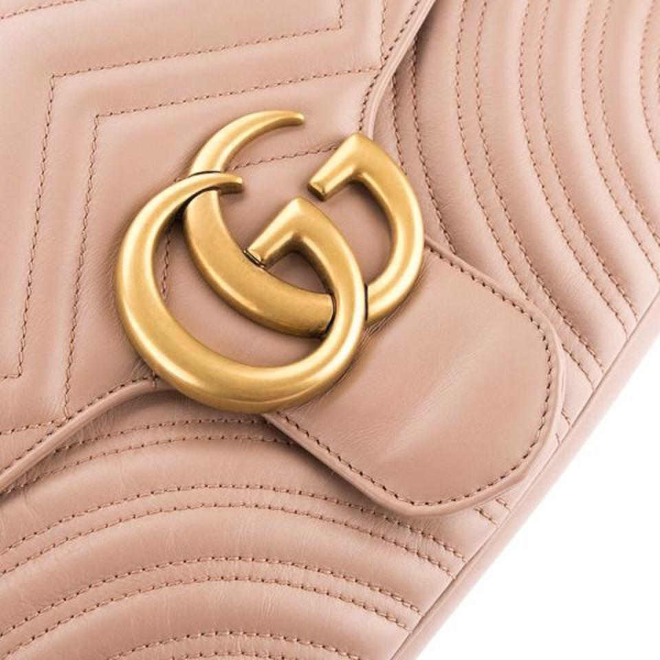 74cc023734f0 Gucci Marmont Box New In Gg Matelasse Medium Perfect Pink Leather Shoulder  Bag - Tradesy