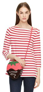 Kate Spade Chocolate Covered Strawberry Embellished Cross Body Bag