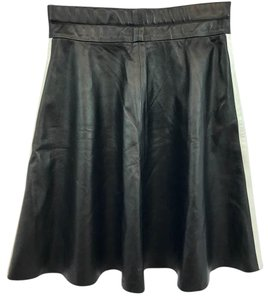 Donald J. Pliner Leather Skirt Black