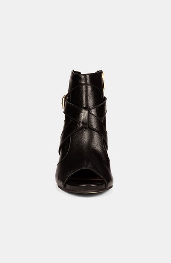 Vince Camuto Padara 6.5 And Gold Studded Studded Open Toe Open Toe Black Boots