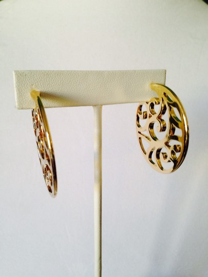 Other Gold-Tone Large Scroll Hoop Earrings