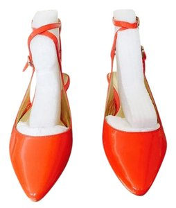 Belle by Sigerson Morrison Strappy Patent Leather Spring Summer Tangerine Flats